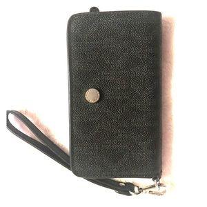 Black Michael Kors Wristlet phone wallet
